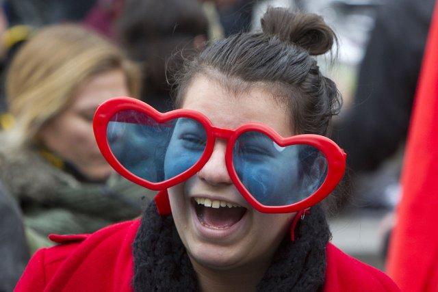 Des étudiants ont manifesté le 29 mars dernier... (Photo: Robert Skinner, La Presse)
