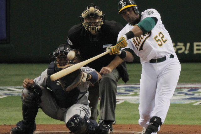 Yoenis Céspede... (Photo Associated Press)