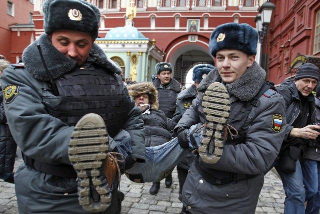 La police de Moscou a fait état de... (Photo: AP)