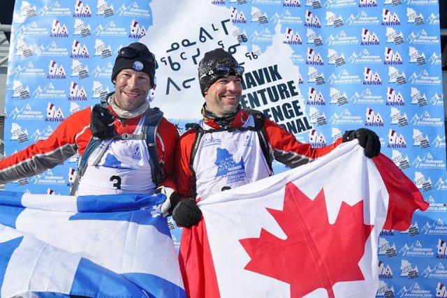 Simon Côté de Gaspé et Ian Beaulieu de... (Photo Nunavik Adventure Challenge)