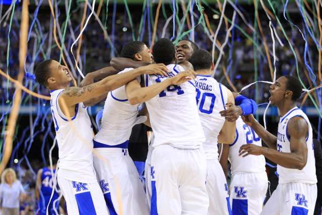 Les joueurs des Wildcats de l'Université du Kentucky... (Photo: Reuters)