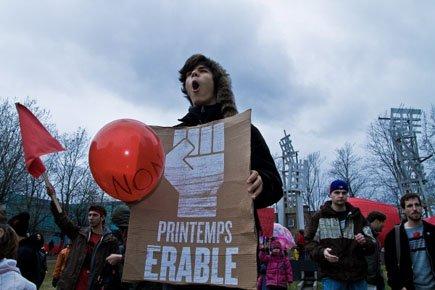 Plusieurs organisations syndicales, communautaires et écologiques se sont... (Photo: Valérian Mazataud, Colaboration spéciale)