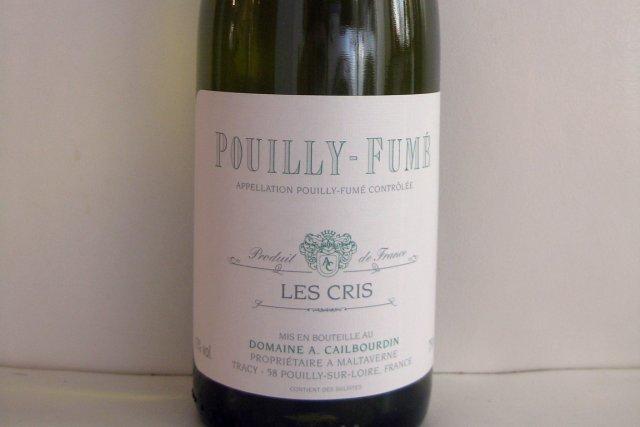 Domaine A. Cailbourdin Les Cris Pouilly-Fumé2010... (Photo La Presse)