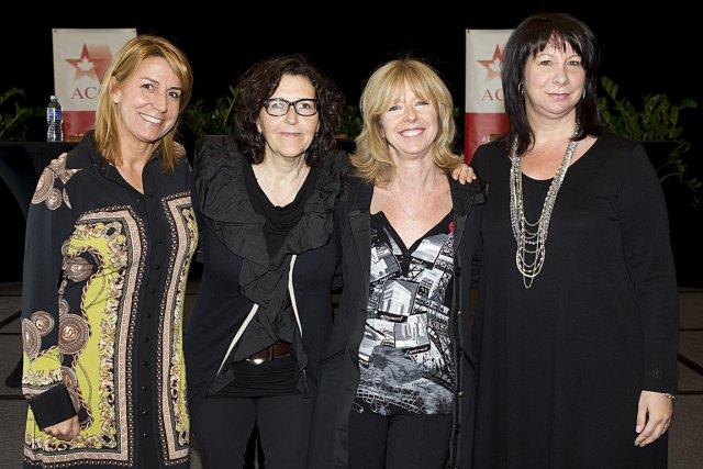 Lucie Quenneville, de V télé, Louise Lantagne, de... (Jean-Guy Thibodeau)