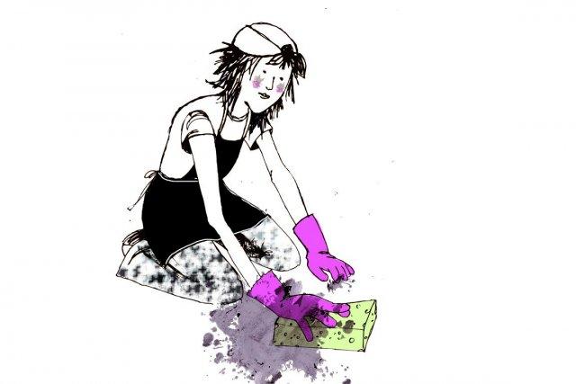 Qui n'a pas dans son entourage une maniaque du balai, une accro du plumeau ou... (Illustration Rachel Hotte, La Presse)