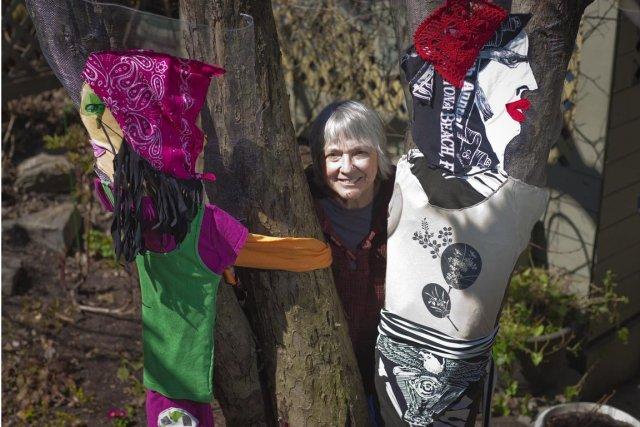 Trixi Rittenhouse, l'artiste du projet «Tree Huggers».... (Photo André Pichette, La Presse)