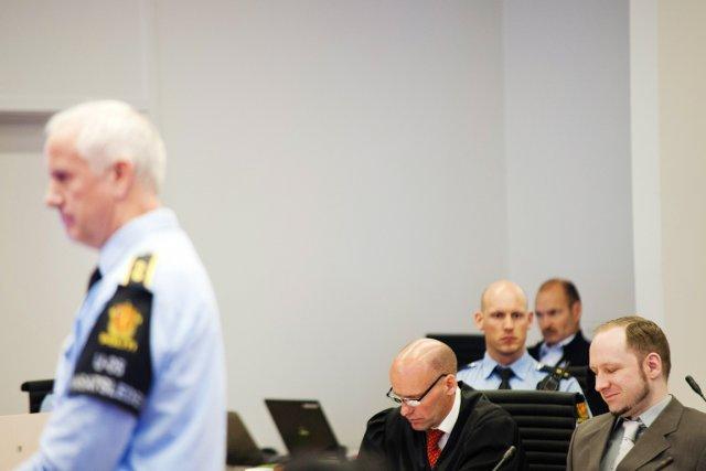 L'auteur du massacre norvégien de juillet dernier ayant... (Photo: Fredrik Varfjell, AFP)
