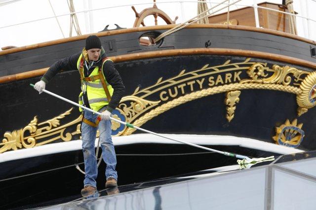 Elizabeth II à bord du Cutty Sark