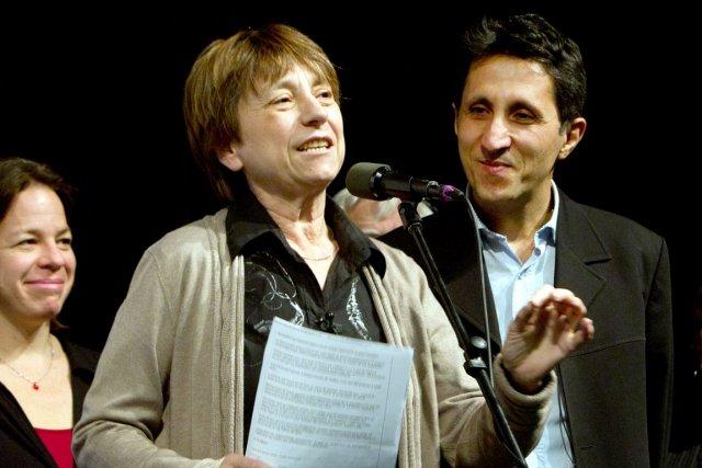Françoise David, co-porte-parole de Québec solidaire avec Amir... (Photothèque Le Soleil)