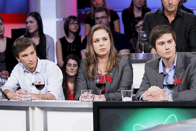 Les représentants de trois grandes associations étudiantes, Gabriel... (Photo fournie par Radio-Canada)