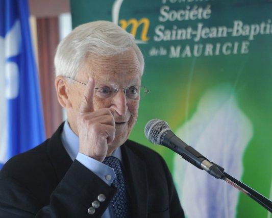 L'ex-président du Mouvement Desjardins,Claude Béland, était l'invité samedi... (Photo: Sylvain Mayer)
