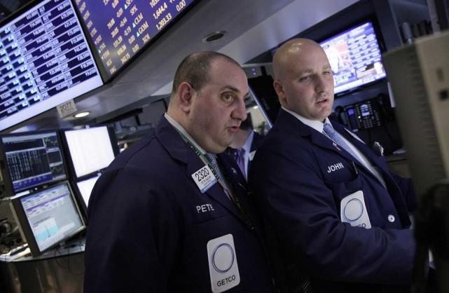 Wall Street, encouragée dans une séance calme par un indicateur encourageant... (Photo AP)