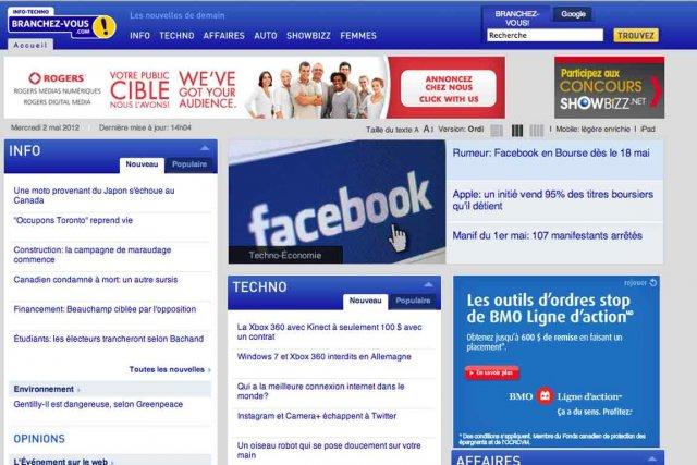 Branchez-vous attire mensuellement une moyenne de 435 000... (Photo: site Branchez-vous.com)