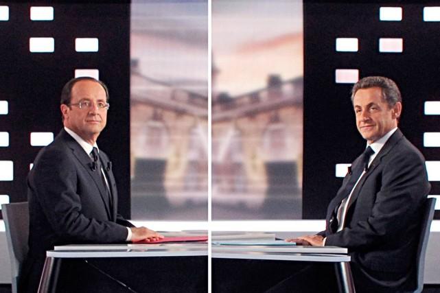 François Hollande et Nicolas Sarkozy... (Archives AFP)