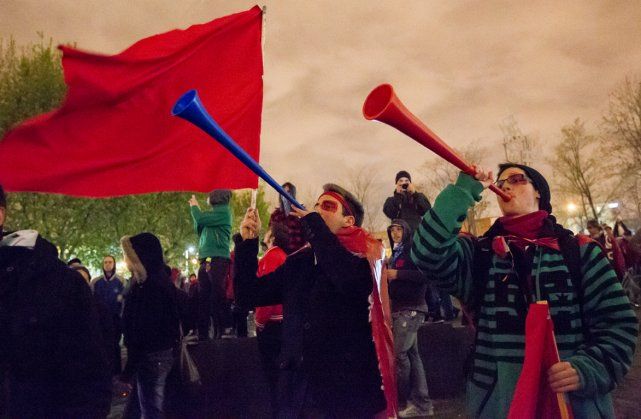 Le mouvement de grève en est à sa... (Photo Édouard Plante-Fréchette, archives La Presse)