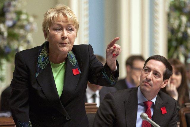 Pauline Marois, la chef du  Parti québécois,... (Photo: PC)