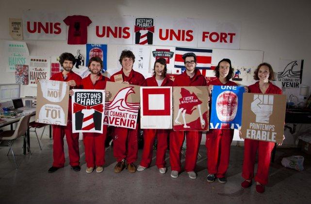 Les membres du collectif de l'École de la... (Photo: André Pichette, La Presse)