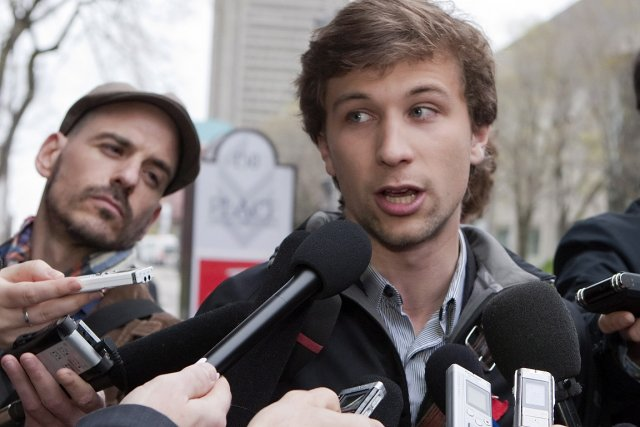 Gabriel Nadeau-Dubois, l'un des porte-paroles de la CLASSE,... (Photo: PC)