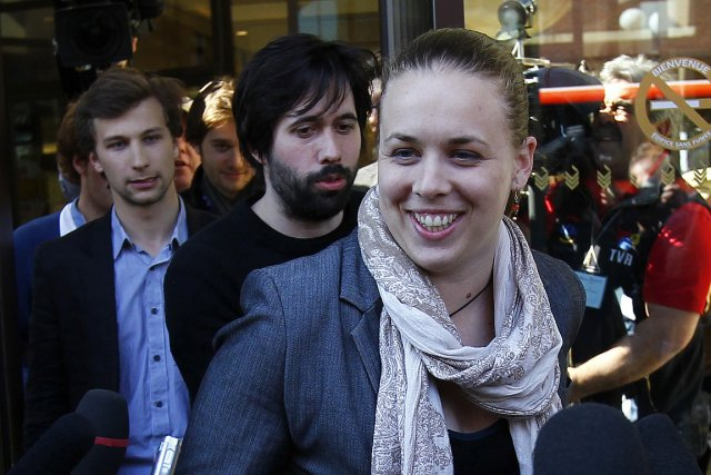 Les leaders étudiants, dont Martine Desjardins de la... (Photo: Le Soleil)