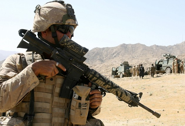 Un soldat canadien en Afghanistan... (Photo AFP)