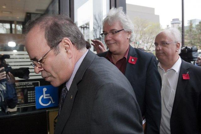 Michel Arseneault de la FTQ, Louis Roy de... (Photo: PC)