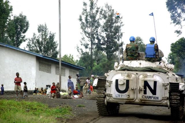 Des Casques bleus affectés au Congo... (Photo: AFP)