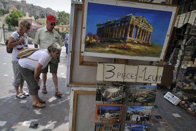 Des touristes à Athènes... (Photo: AFP)