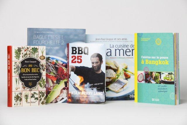 Les cinq livres de recettes de saison... (Photo La Presse)