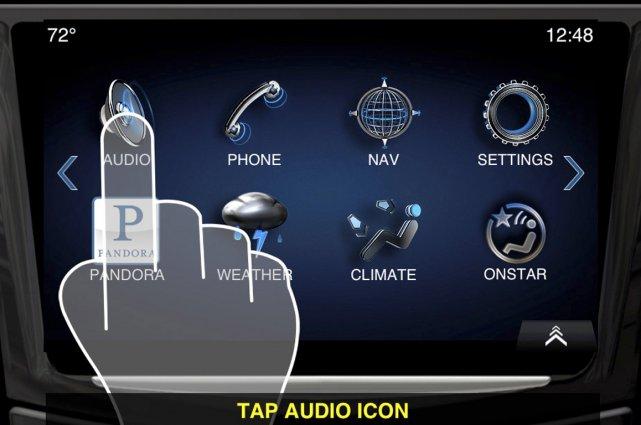 L'interface CUE, de Cadillac.... (Photo fournie par GM)