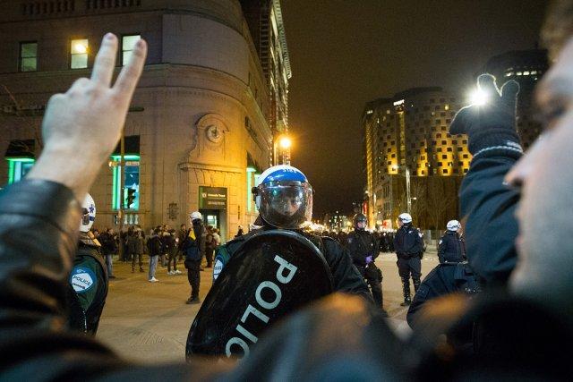 En dépit des blessures et des arrestations, 81%... (Photo: Édouard Plante-Fréchette, La Presse)
