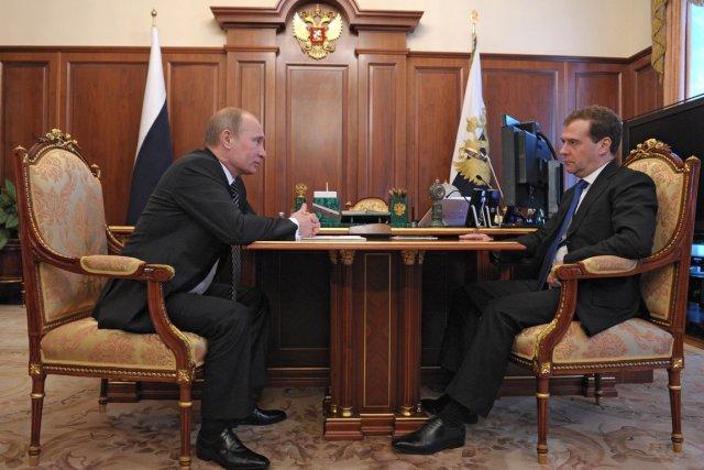 Le président de la Russie, Vladimir Poutine, et... (Photo : Alexey Druzhinin, AFP)