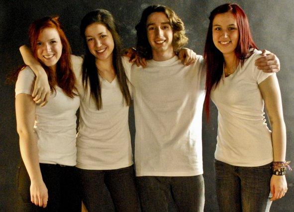 La jeune formation Dorange lançait son premier album... (Photo: courtoisie)