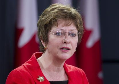 La ministre du Travail, Diane Finley, a subi... (Photo PC)