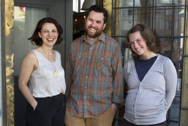 Claudia Fancello, Jacob Wren et Caroline Dubois explorent... (Photo Robert Skinner, La Presse)
