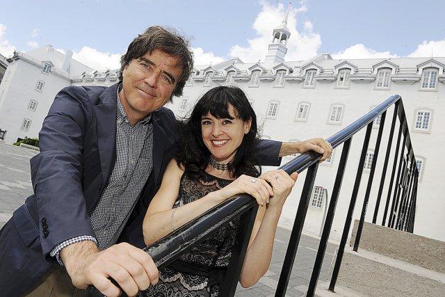 L'architecte bien connu Pierre Thibault et Catherine Lachaussée... (Le Soleil, Erick Labbé)