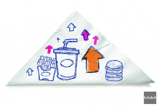 Ce sont les chaînes de restauration rapide qui... (Photomontage Le Soleil)