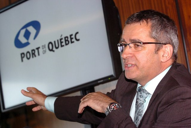 Mario Girard, président-directeur généra du Port de Québec... (Le Soleil, Jean-Marie Villeneuve)