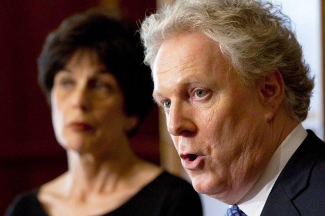 La ministre de l'Éducation Michelle Courchesne et le... (Photo: Jacques Boissinot, PC)