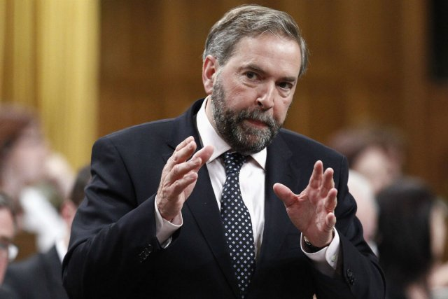 Le chef du NPD, Thomas Mulcair.... (Photo Chris Wattie, Reuters)