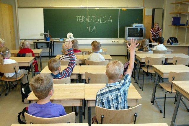 Des élèves dans leur classe à Helsinki, en... (Photo: archives La Presse)