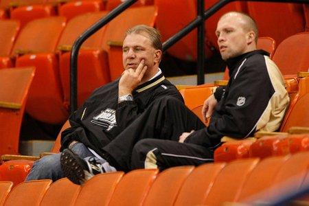 L'entraîneur-chef du Wild du Minnesota, Mike Yeo (à... (Photo: Getty Images)