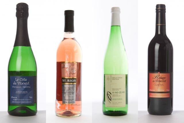 Quatre vins sans alcool... (Photos La Presse)
