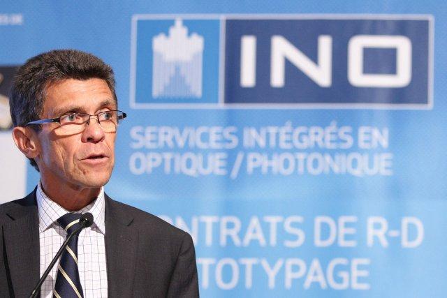 Le président-directeur général de l'Institut national d'optique, Jean-Yves... (Le Soleil, Jocelyn Bernier)
