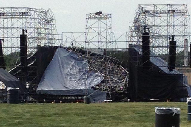 La scène du groupe Radiohead qui s'est effondrée... (Photo: PC)
