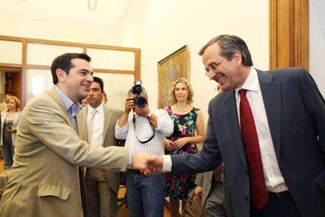 Le chef de file de la Nouvelle Démocratie,... (Photo: Petros Giannakouris, AFP)