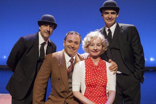 Les quatre comédiens de la pièce Les 39... (Photo: Édouard Plante-Fréchette, La Presse)
