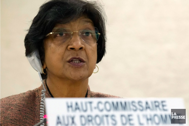 La Haut-Commissaire des Nations unies aux droits de... (Photo: Salvatore Di Nolfi, Associated Press)