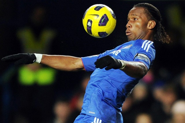 Didier Drogbaa inscrit 157 buts pour Chelsea entre... (Photo archives AFP)
