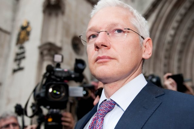 Le fondateur de WikiLeaks Julian Assange.... (Photo: Leon Neal, AFP)