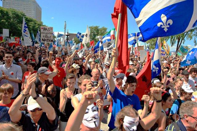 La grève mondiale en branle, qui vise à... (Photothèque Le Soleil, Pascal Ratthé)